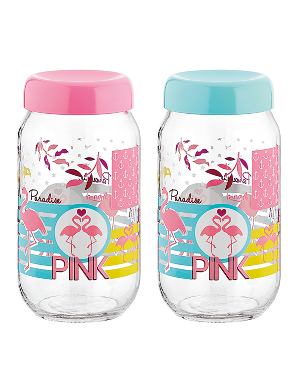Flamingo Decorated Jar 1000 cc