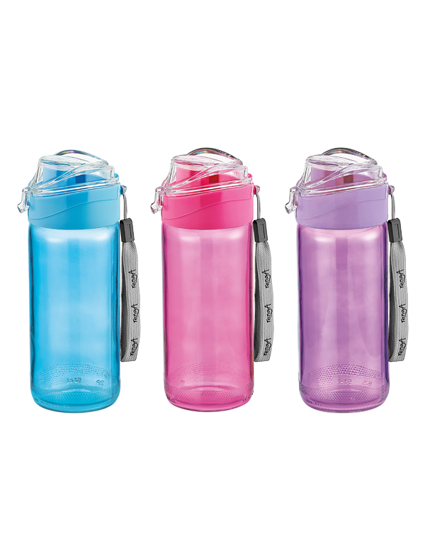 Luya Coloured Glass Water Bottle
