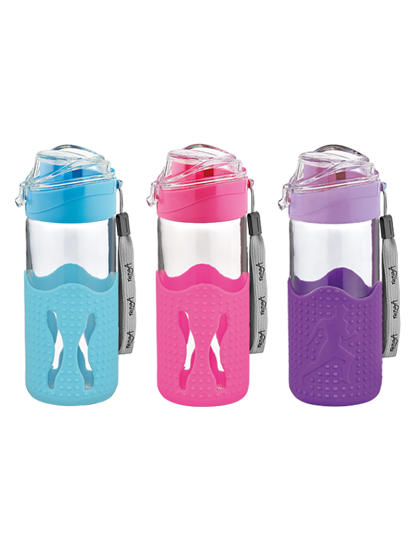 Giza Glass Water Bottle With Silicon Sleeve