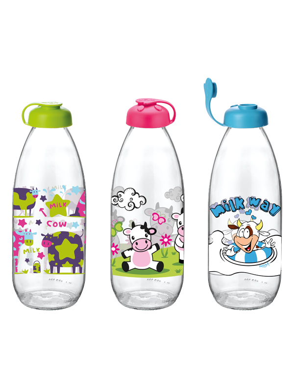 Milky Decorated Milk Bottle 1 lt