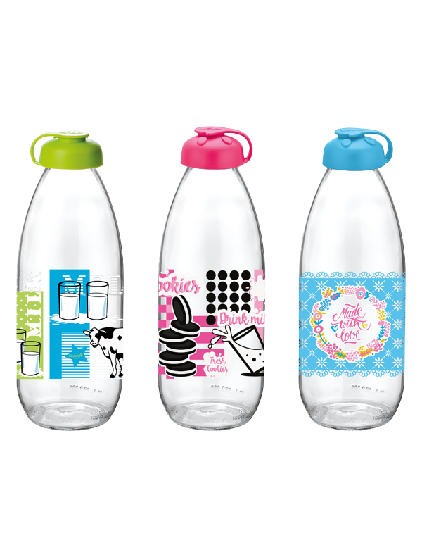 Fresh Decorated Milk Bottle
