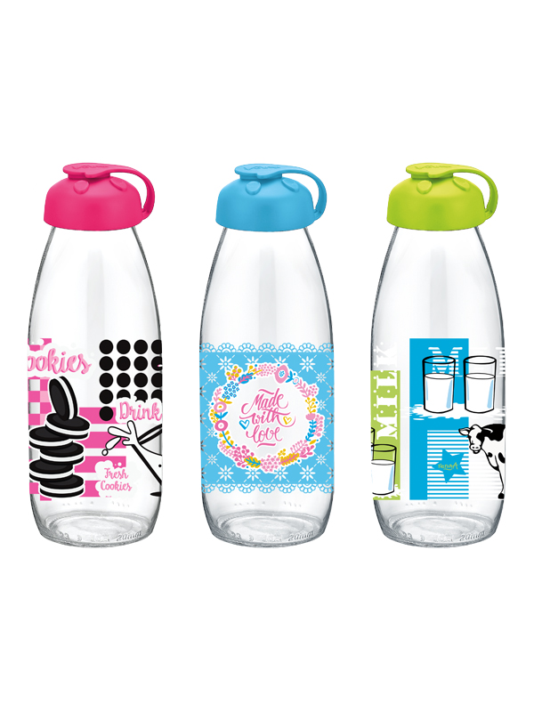 Milky Decorated Milk Bottle 500 cc