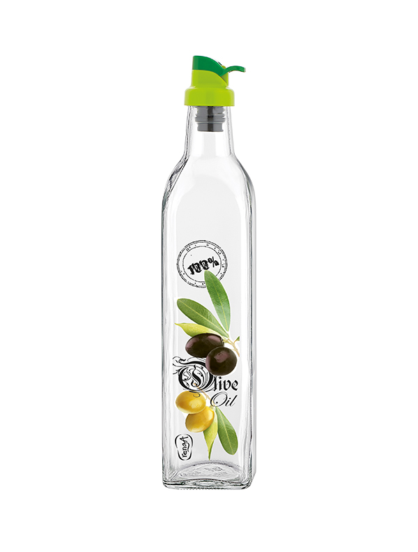 Olive 500cc Decorated Oil Bottle