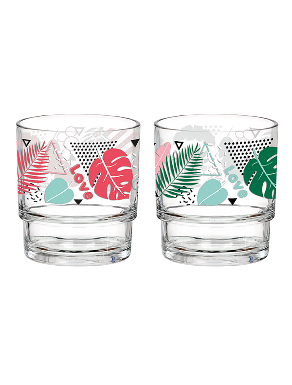 Tropik Decorated Glass Tumbler 280cc